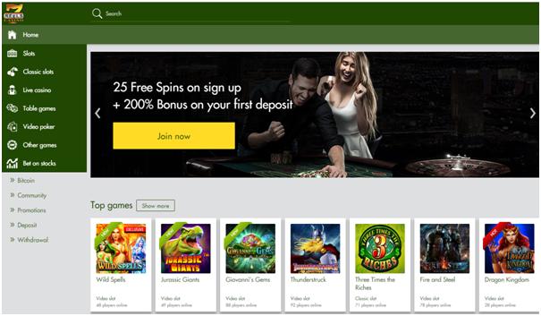 7 Reels casino BTC deposit
