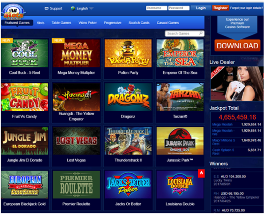 all slots casino instant