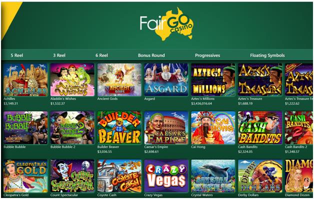 Fair Go Casino Filter tool