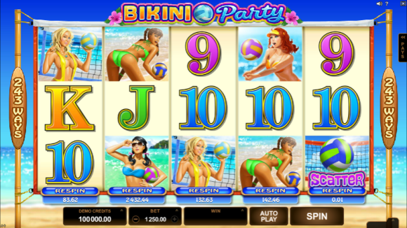 Free Bikini Party Pokie