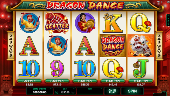 Free Dragon Dance Pokie
