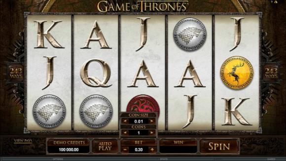 Free Game of Thrones Pokie