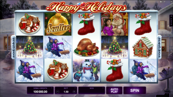 Free Happy Holidays Pokie
