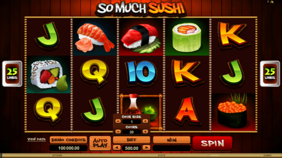 Free So Much Sushi Pokie