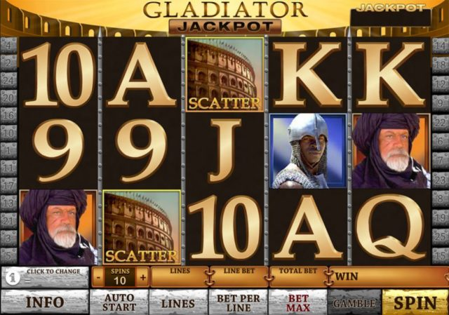 Gladiator Jackpot pokies game