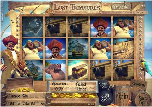 How to play Lost Treasures online real money pokies at online casinos?