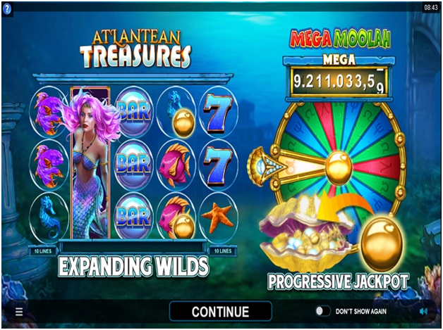Atlantean Treasures: Mega Moolah- New Game Features