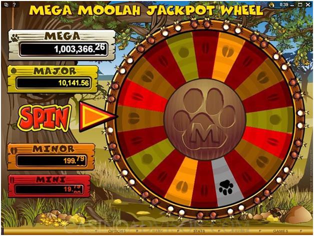 Mega moolah- Jackpot Wheel