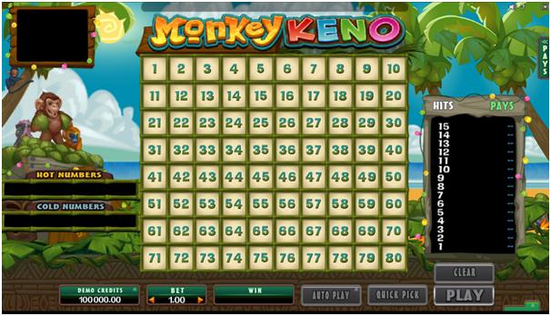 Monkey Keno Online