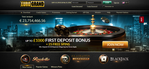 Online Casino at EuroGrand.com