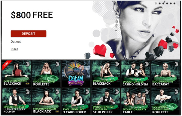 Platinum play live casino games to play