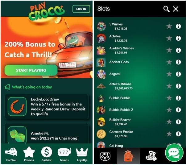 Playcroco online casino for real money pokies