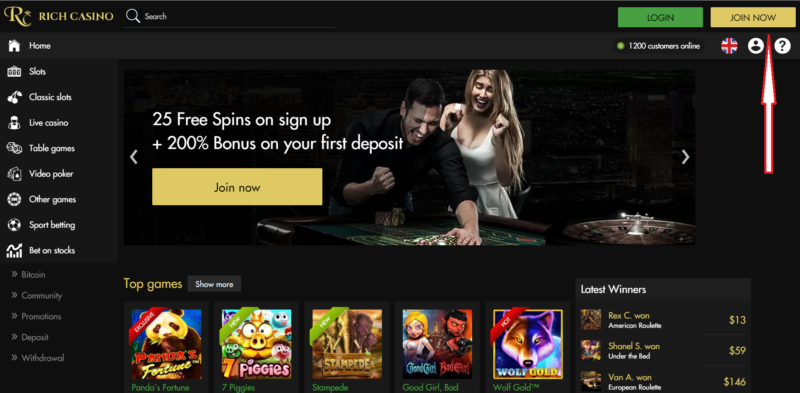 Rich Casino- Join Now