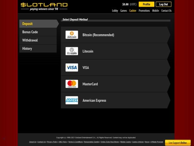 Slotland Casino Deposits For Real Money Pokies