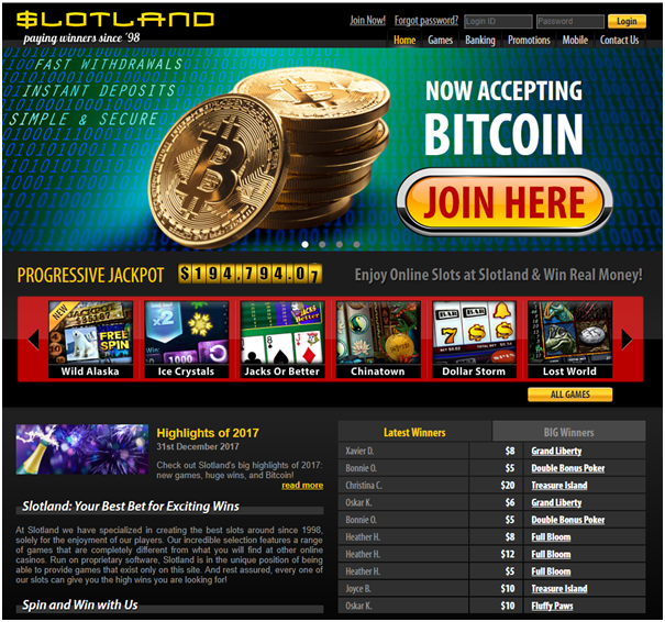 Bitcoin casino - play real money pokies