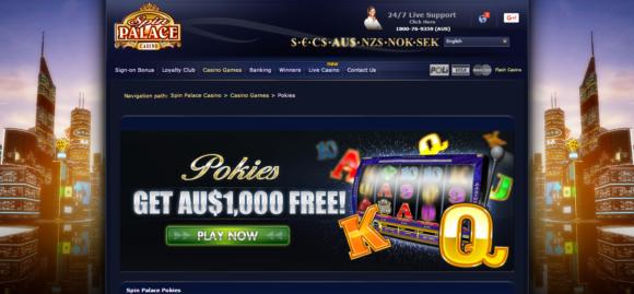 spin palace australia online casino - au$1000 free