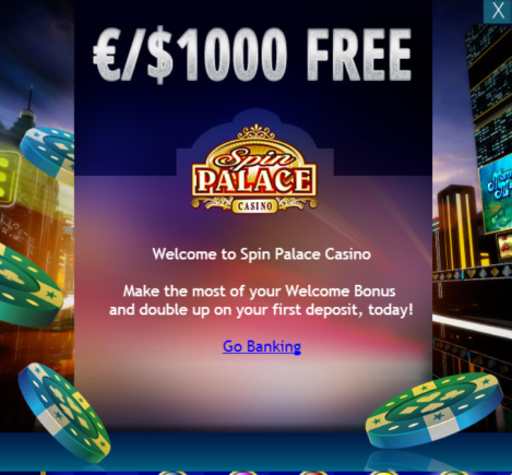 Spin palace Casino Go Banking