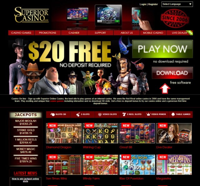 Superior casino download