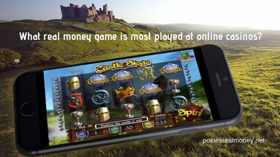 What real money game is most played at online casinos_