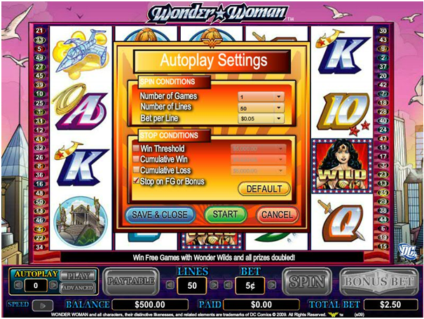 Wonder Woman pokies to play with real money