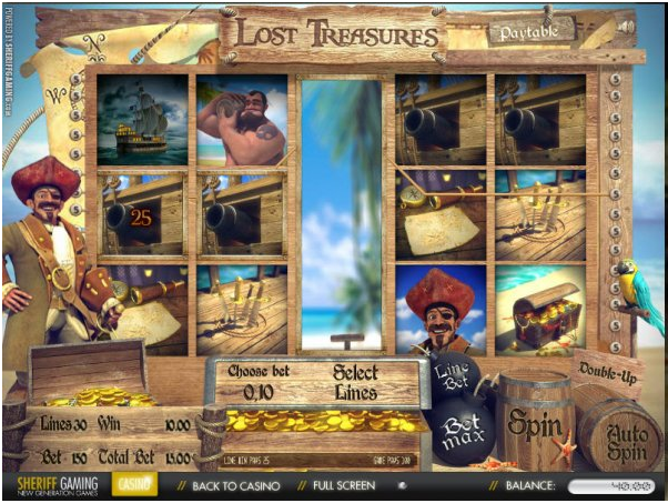 Lost treasures pirate pokies to play